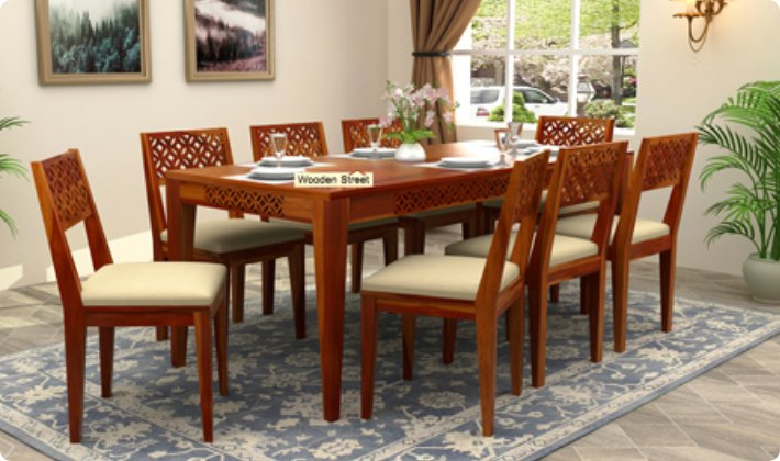8 seater dining table set near me