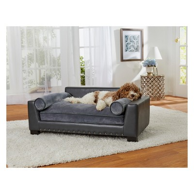 Enchanted Home Pet Skylar Dog Sofa - Dark Grey