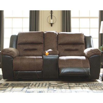 Earhart - Double Reclining Loveseat With Console - Signature Design By  Ashley : Target