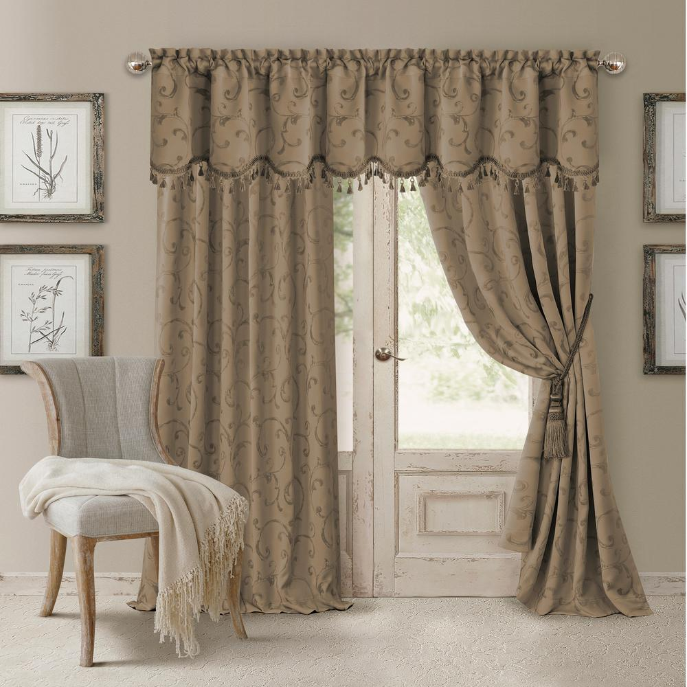 This review is from:Mia Jacquard Scroll Blackout Window Curtain