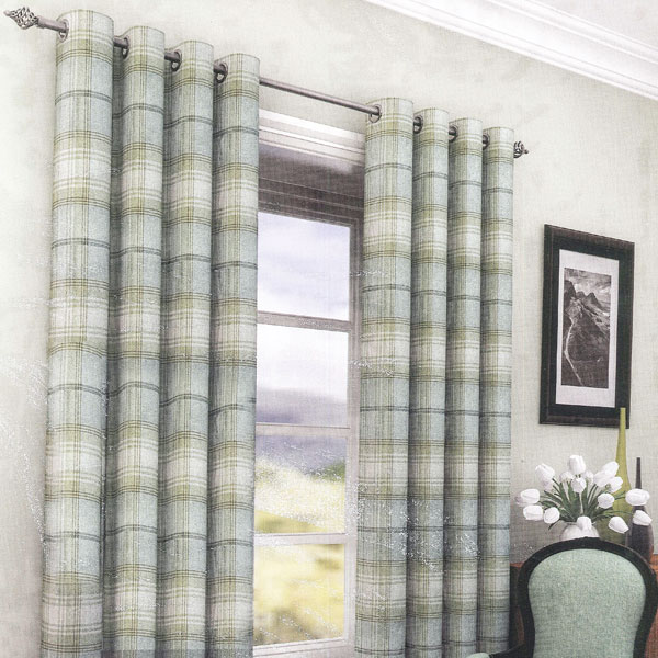 Argyll Duck Egg Ready Made Eyelet Curtains. Expand