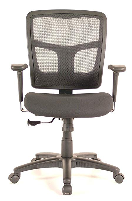 EQA Home CoolMesh Synchro-Tilt Mid-Back Ergonomic Task Chair with Arms
