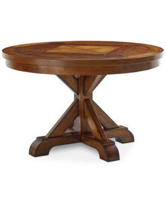 Furniture Mandara Round Expandable Dining Trestle Table