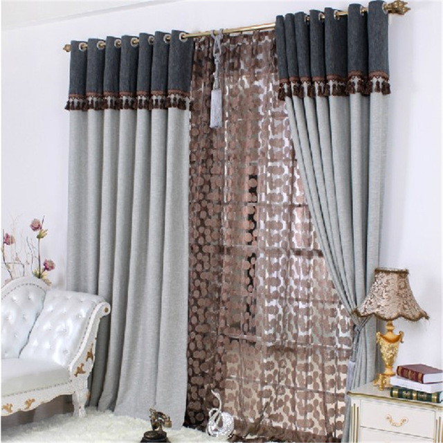 Free shipping Home design Curtain design Exquisite jacquard thread curtain  new classical luxury curtain blind window curtain
