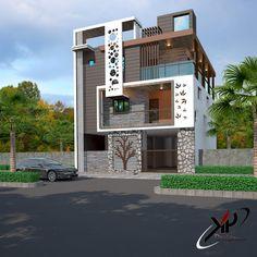 Elevation Building Elevation, Elevation Plan, House Elevation, House Front  Design, Modern House