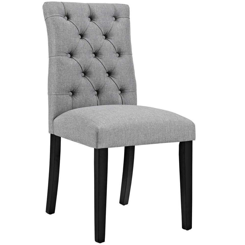MODWAY Duchess Light Gray Fabric Dining Chair-EEI-2231-LGR - The Home Depot