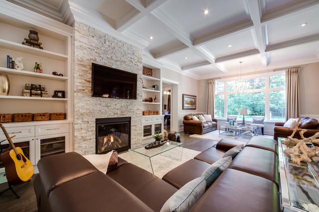 Custom Build Home traditional-family-room
