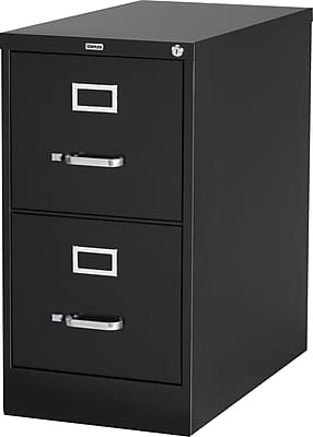 Staples 2-Drawer Letter Size Vertical File Cabinet, Black (26.5-Inch) |  Staples