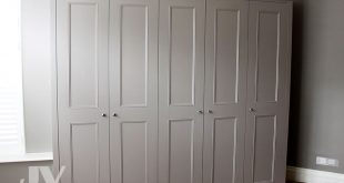Classic Fitted Wardrobe with beaded shaker doors and cornice This fitted  wardrobe has been installed in 2012 and became very popular choice.