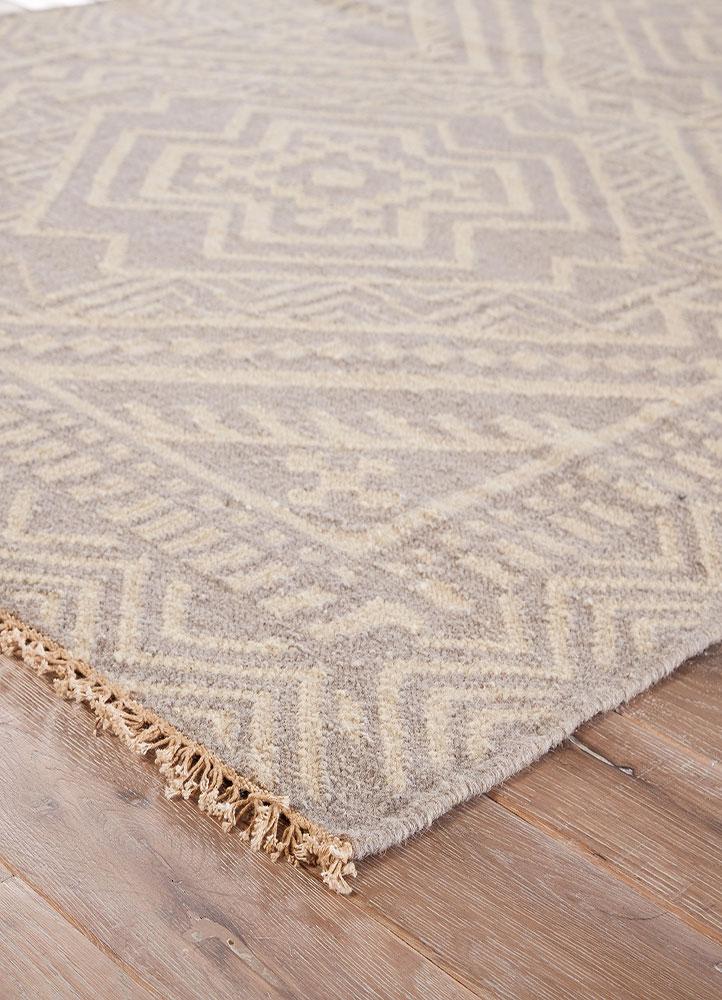 Bhutan Grey Flat Weave Rug Corner