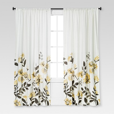 Climbing Floral Window Curtain Panel - Threshold™