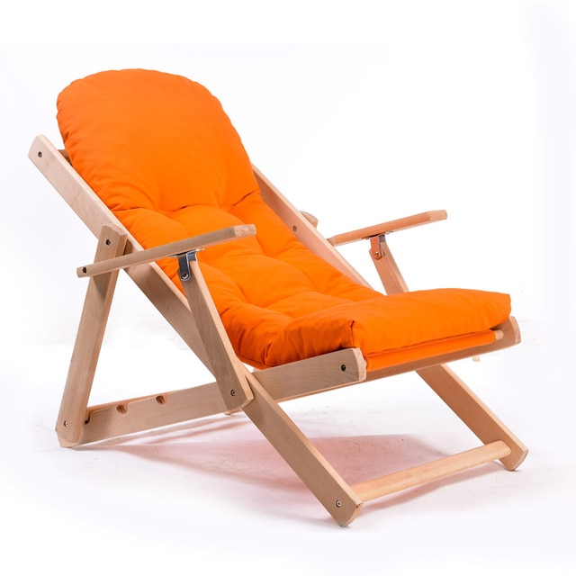 Simple and stylish wood folding armchair-in Chaise Lounge from