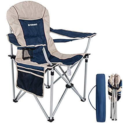 Amazon.com : FUNDANGO Folding Armchair Back Support Padded Camping