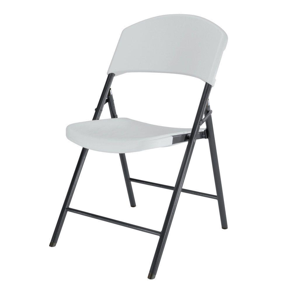 Lifetime White Granite Light Commercial Folding Chair (4-Pack)