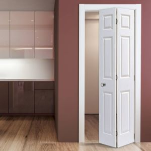 Wooden Interior Bathroom Folding Door