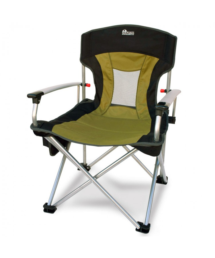 New-Age Vented Back Outdoor Aluminum Folding Lawn Chair