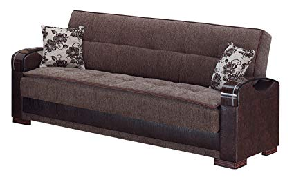 BEYAN Hartford Collection Convertible Folding Sofa Sleeper Bed with Storage  Space, Includes 2 Pillows,