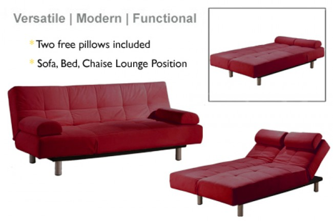 Jamaica_Modern_Convertible_Futon_Sofa_Bed_Sleeper_Red