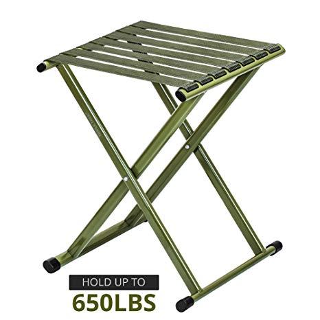 Amazon.com: TRIPLE TREE Portable Folding Stool, Super Strong Heavy