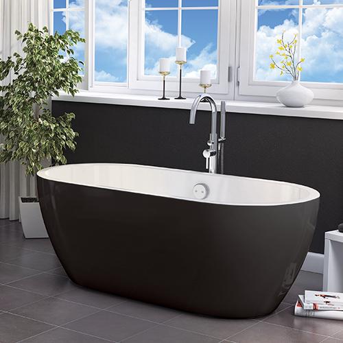 Synergy San Marlo Black 1655MM Freestanding Bath