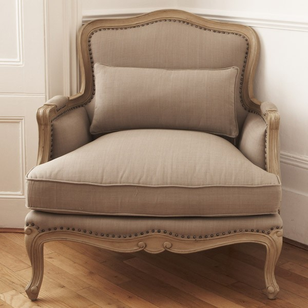 Lyon French Armchair - Finished with Oak Ceruse Frame