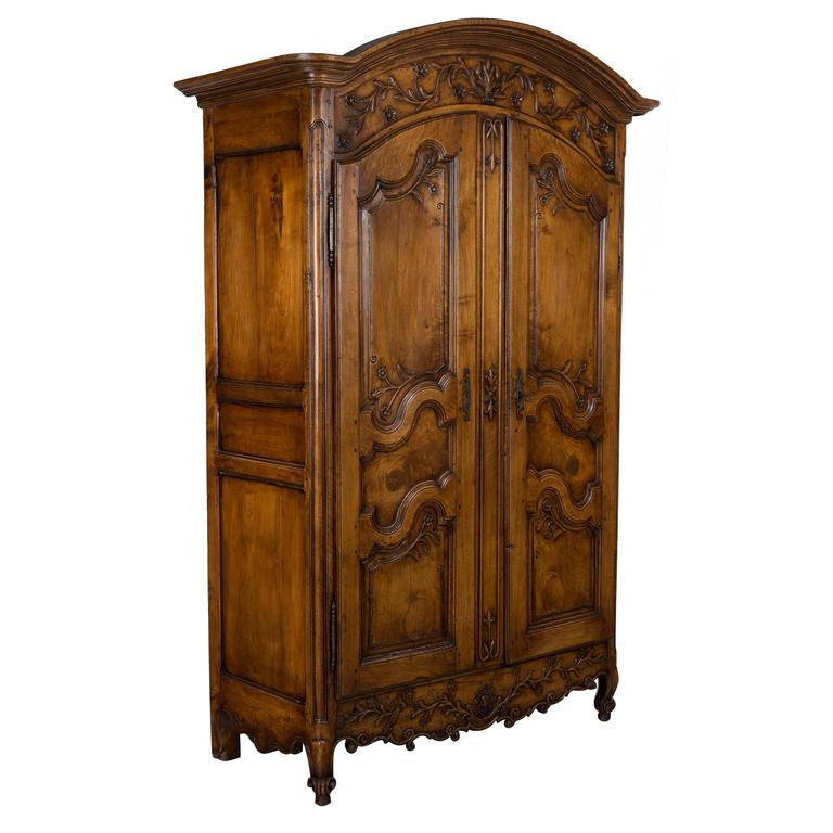 18th Century Louis XV Country French Armoire For Sale