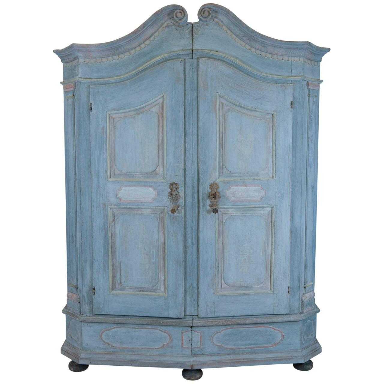 French Blue Armoire For Sale