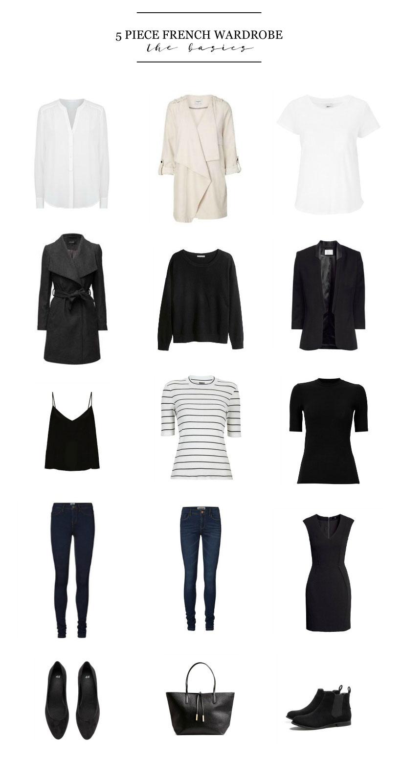 5 Piece French Wardrobe | The Basics