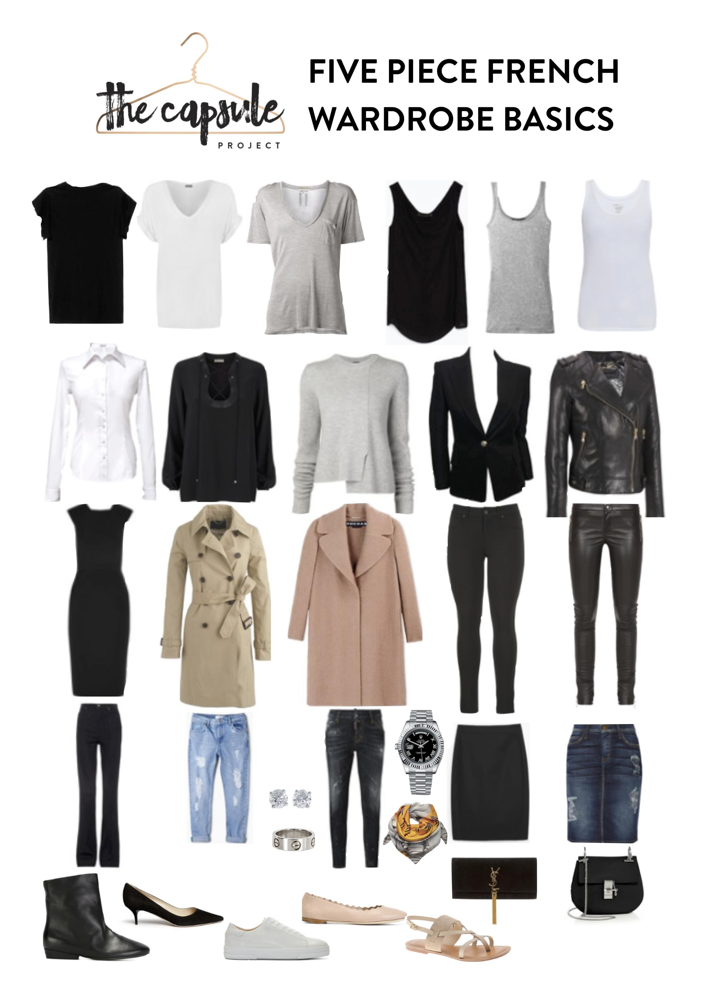 The Five Piece French Wardrobe - Fall 2015 Edition #wardrobebasicsfall2015