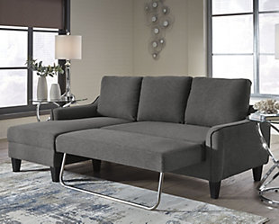 large Jarreau Sofa Chaise Sleeper, Gray, rollover