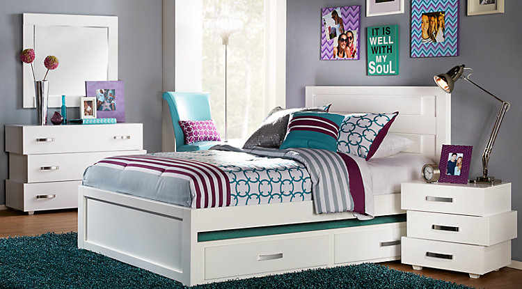 Rooms To Go Furniture Guide: Teen Girls Bedrooms