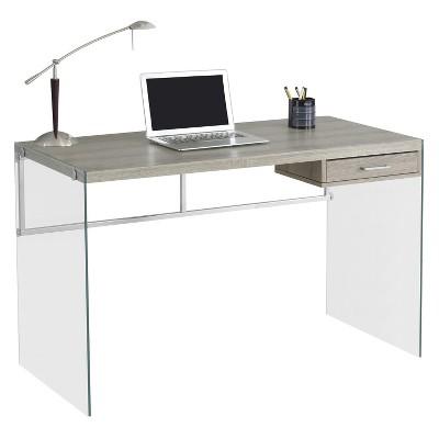 Tempered Glass Computer Desk - Dark Taupe - EveryRoom : Target
