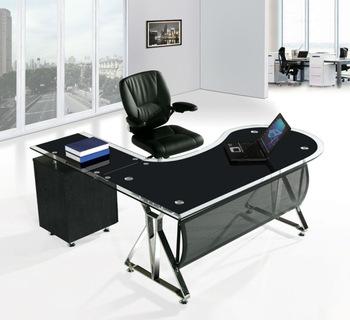 Black Glass Office Desk,Office Desk Cover Glass,Glass Desks Office