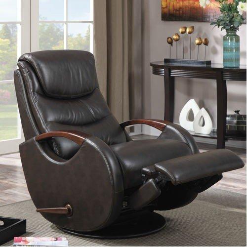 Leather glider recliner 1