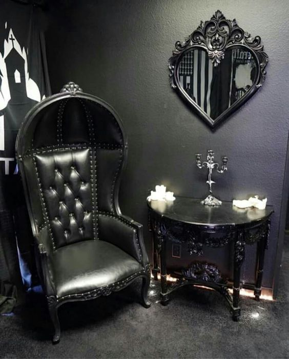 10 Gorgeous Gothic Furniture Set For Your Living Room - decoratoo