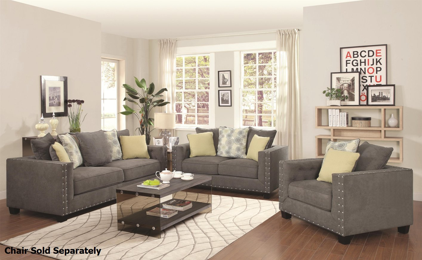 Kelvington Grey Fabric Reclining Sofa and Loveseat Set - Steal-A-Sofa  Furniture Outlet Los Angeles CA