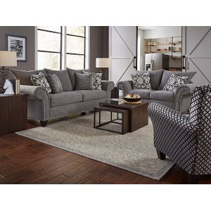 Casual Traditional Gray 2 Piece Living Room Set - Paradigm | RC Willey  Furniture Store