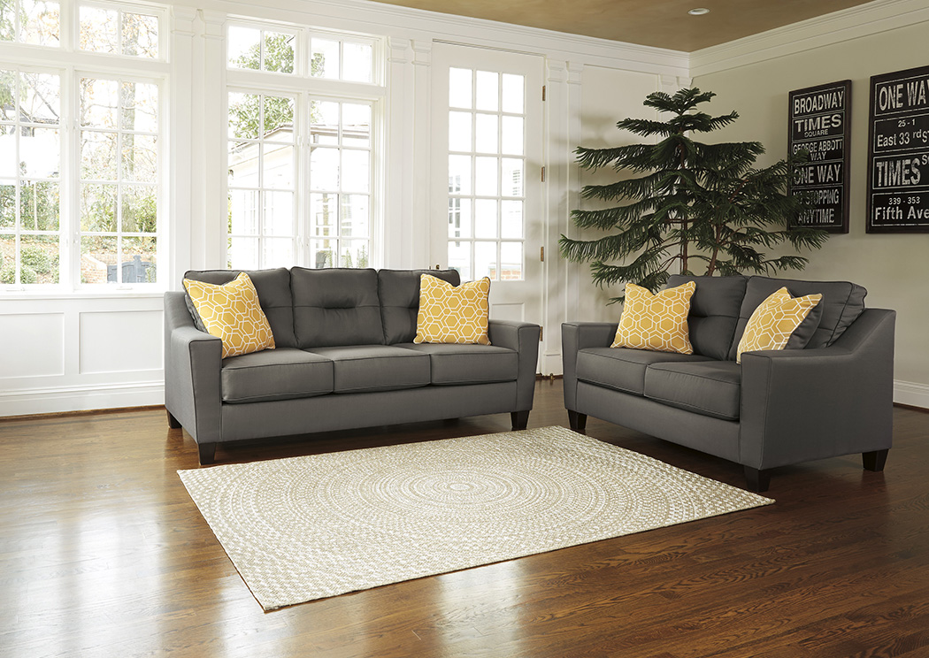 Forsan Nuvella Gray Sofa and Loveseat,Benchcraft