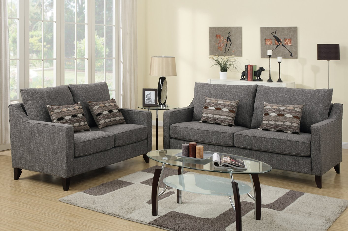 gray sofa and loveseat Gallery