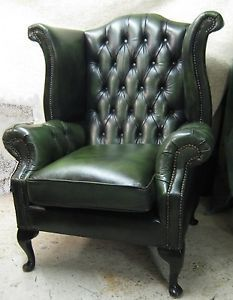 Green Leather Chair, Leather Sofa, Green Armchair, Green Chairs, Leather  Furniture,