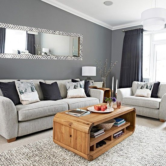 Chic grey living room with clean lines | Home Sweet Home. | Living