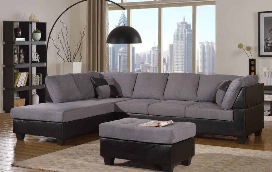 Master Furniture Living Room Two-tone grey sectional sofa. 2321 at The  Furniture Mall
