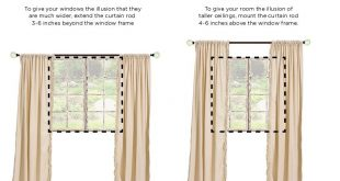 Drapery really finishes off a room, giving it a polished feel. To give your  space the illusion of height or width, follow this helpful guide!