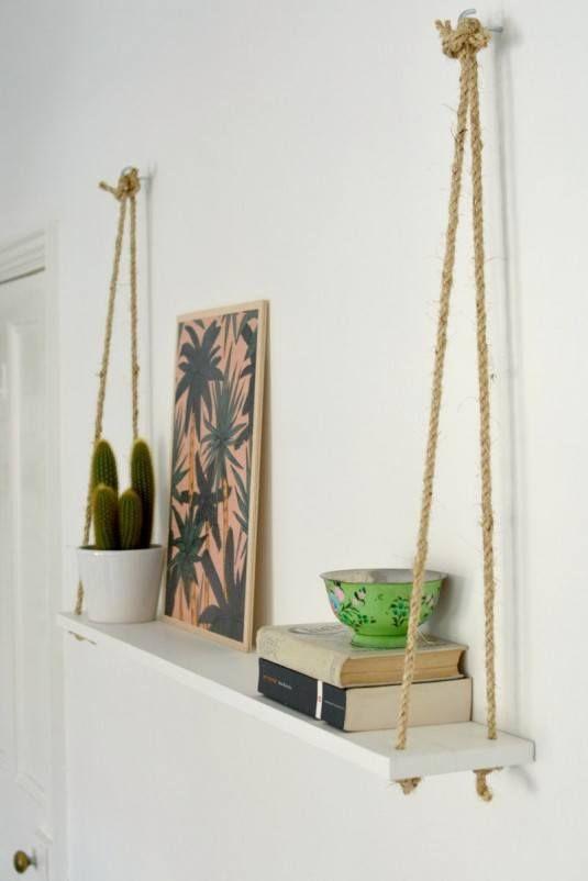 How To Make Diy Hanging Shelf The Easy Way
