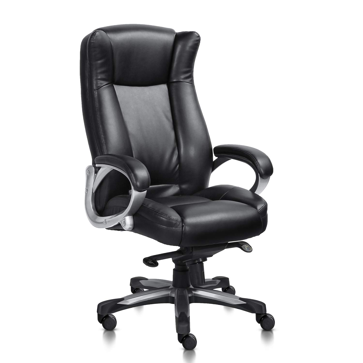 Traveller Location: MDL Furniture Executive Office Chair High Back Thick Padded Heavy  Duty Office Chair 5-Position Tilt and Lock Home Office Chair Bonded