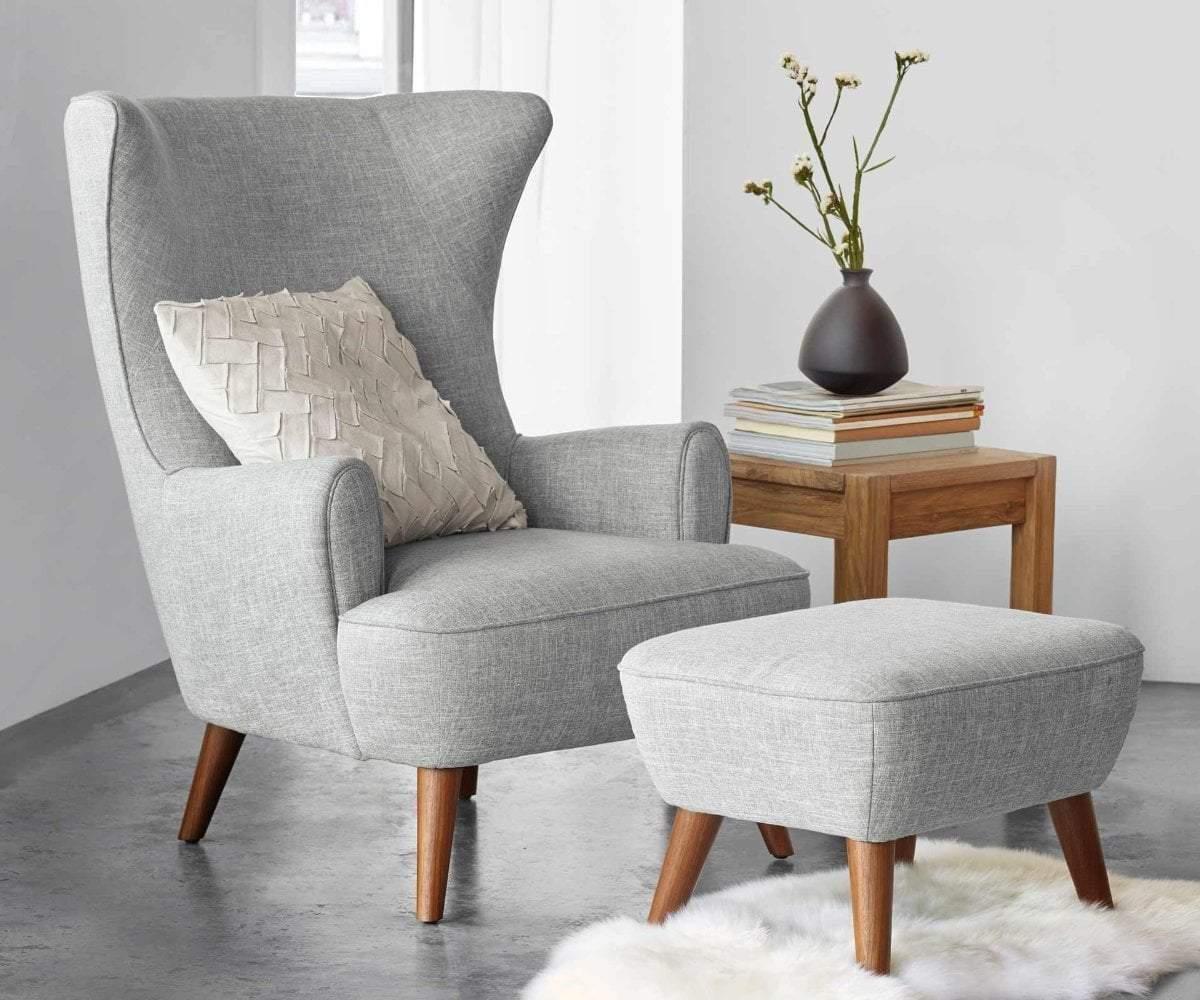 Katja High Back Chair - Grey