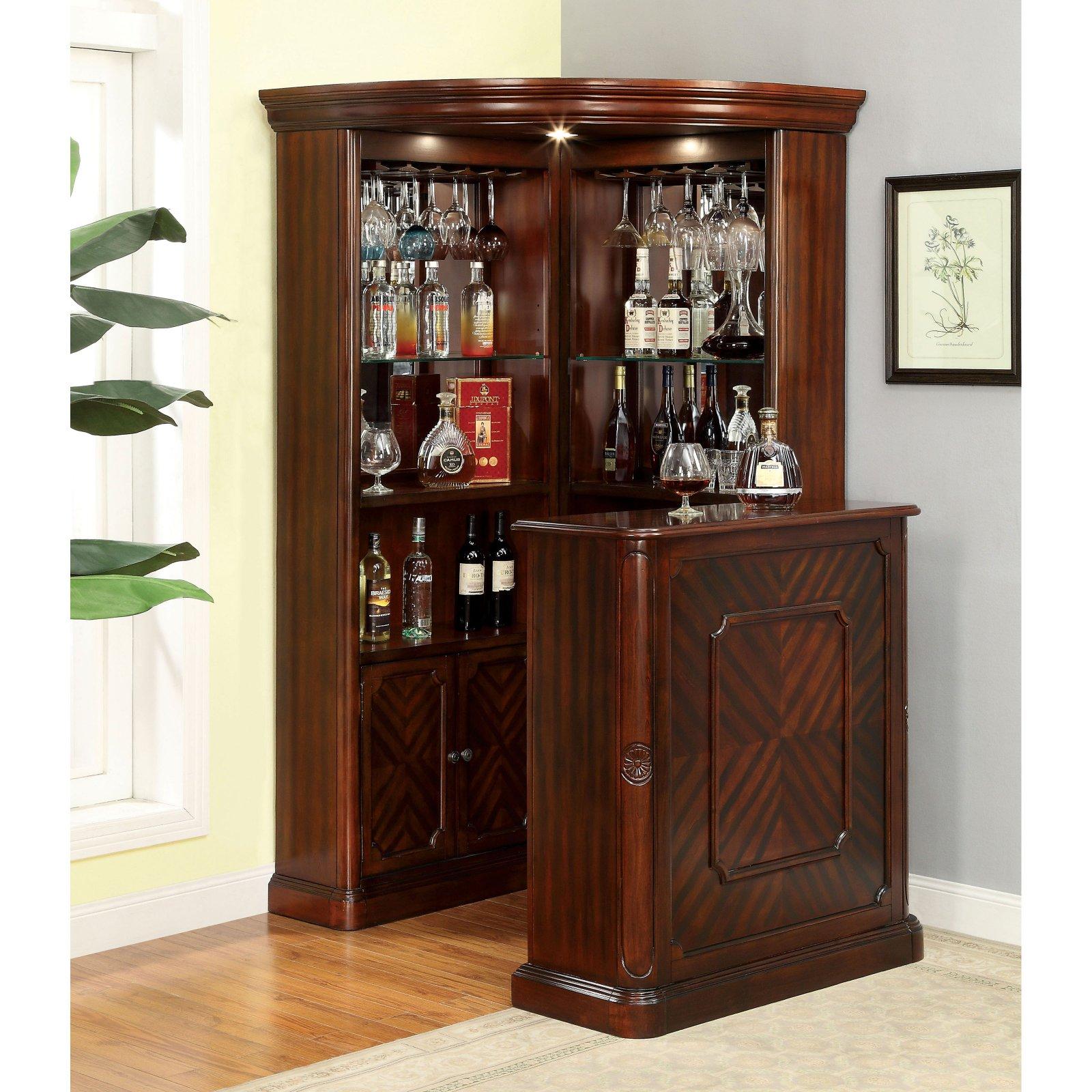 Furniture of America Wolfgang Home Bar Cabinet - Walmart.com