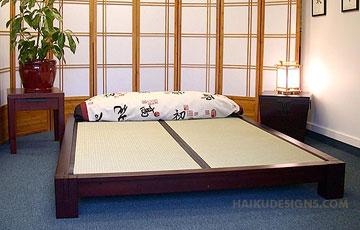 Raku Japanese Tatami Platform Bed