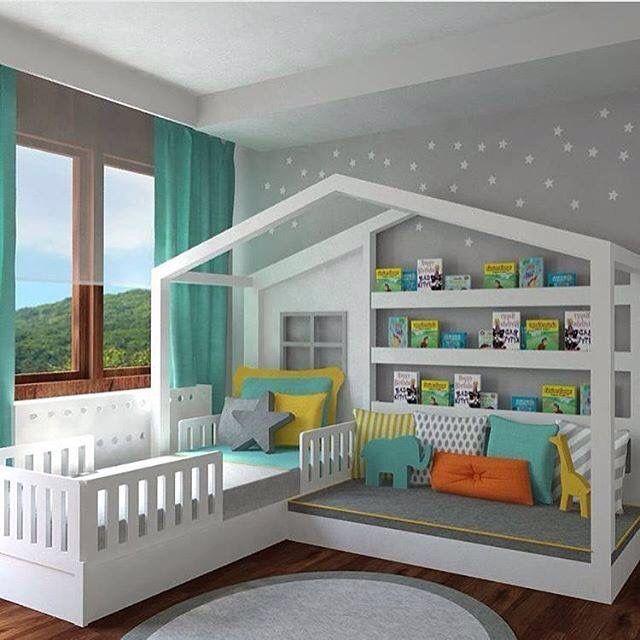 Cool kids bedroom set up | Books World