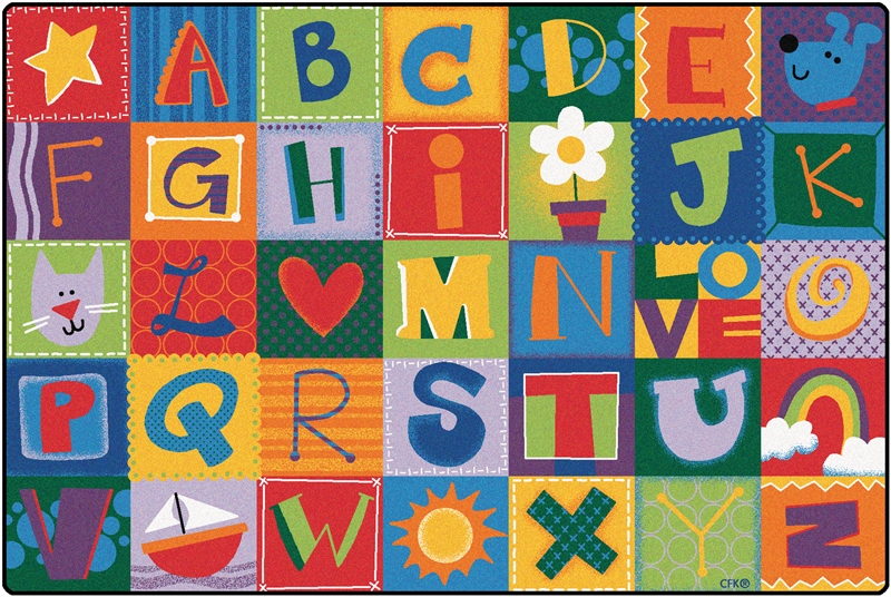 KIDSoft Toddler Alphabet Blocks Rug - CFK38XX - Carpets for Kids